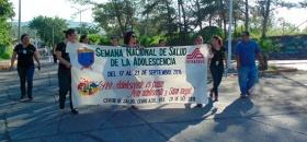 Desfilan por Semana Nacional de la Adolescencia