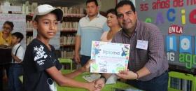 """Alcalde clausura los talleres de verano """"mis vacaciones en la biblioteca 2019"""""""